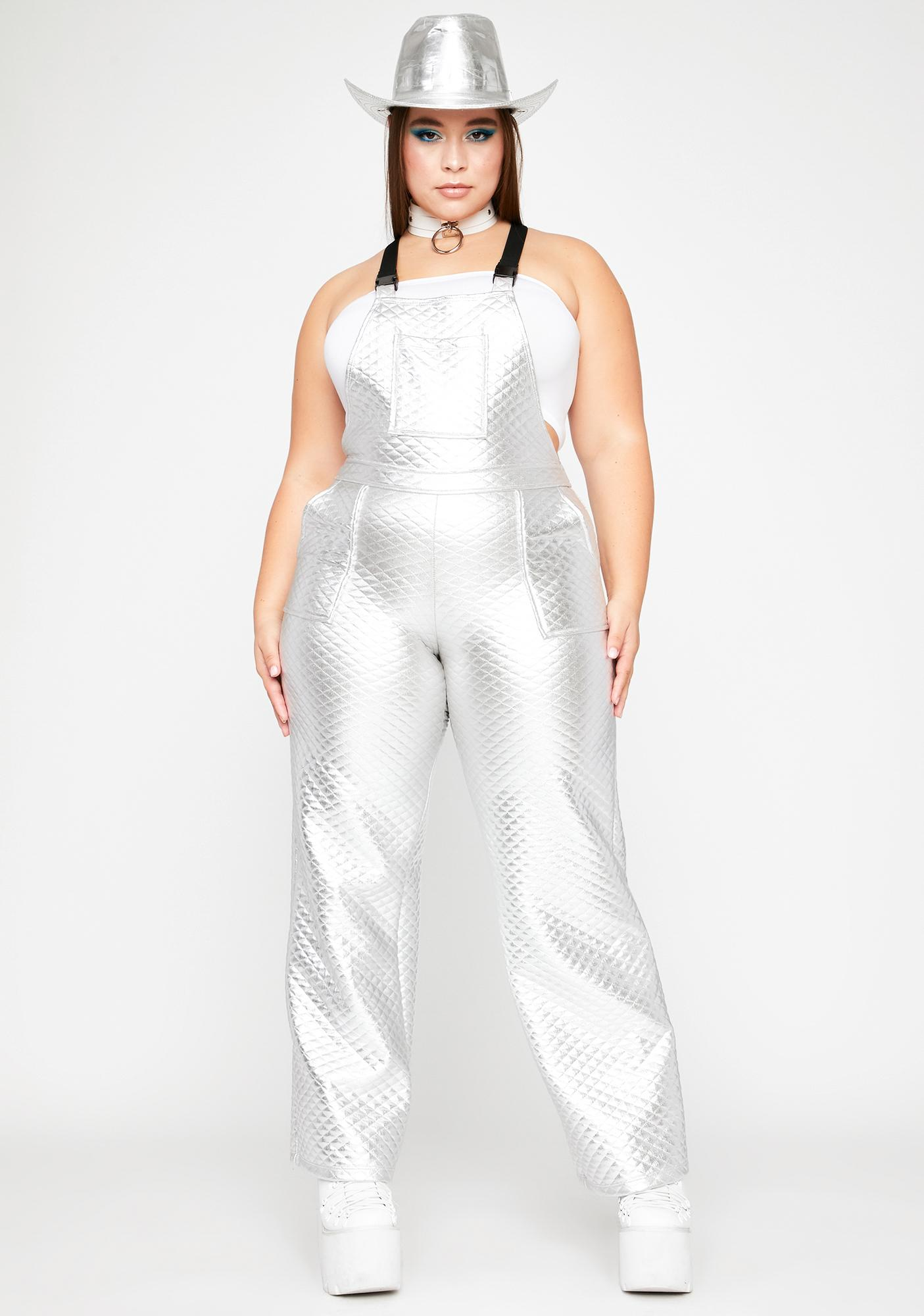 Chrome Total County Diva Quilted Overalls