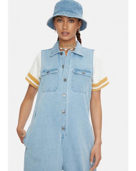 Eden Hemp Denim Jumpsuit