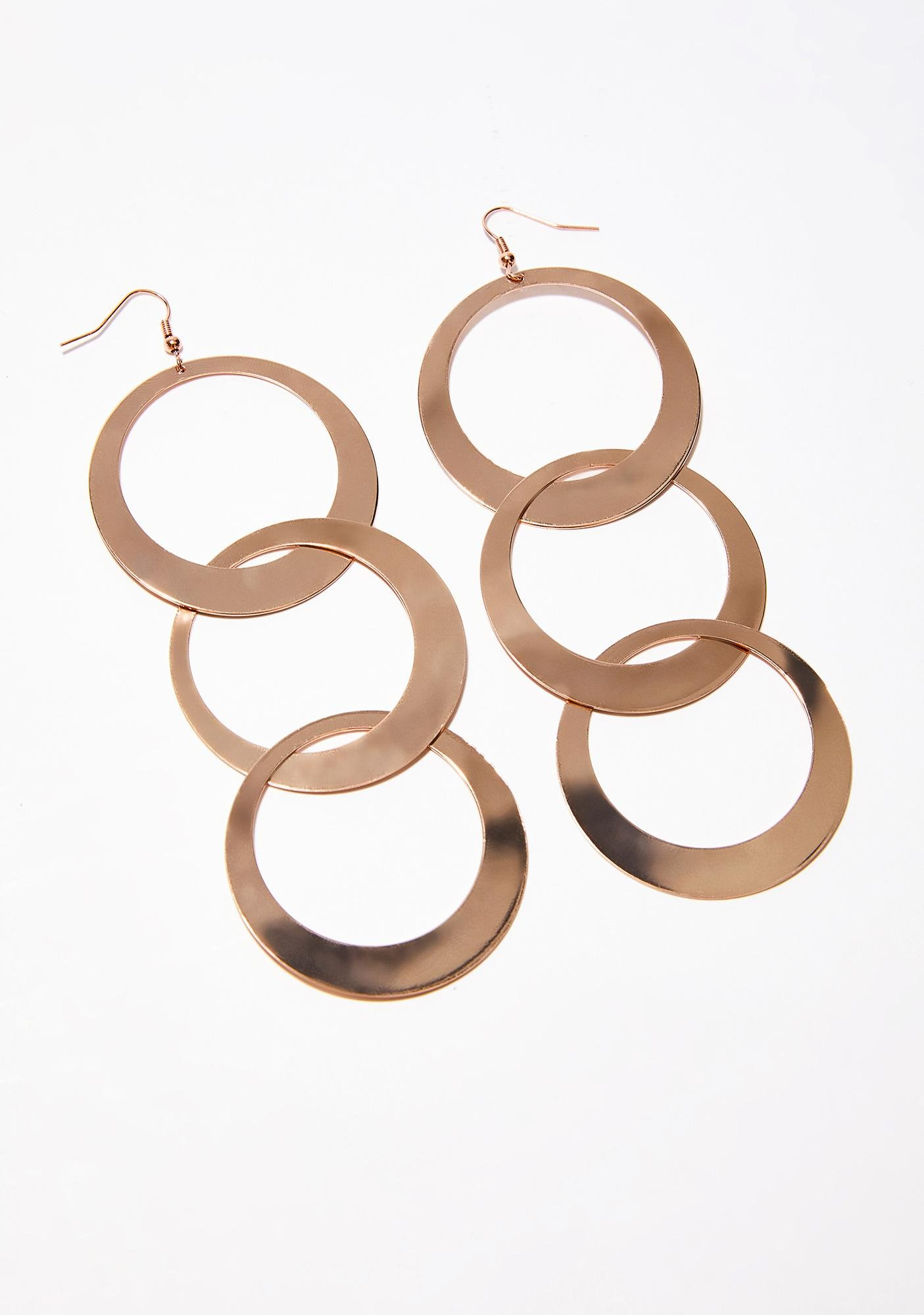 circle dangle dp jewelry amazon earrings brushed plated com gold drop