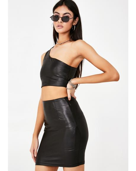 Wanna Be Bad Skirt Set