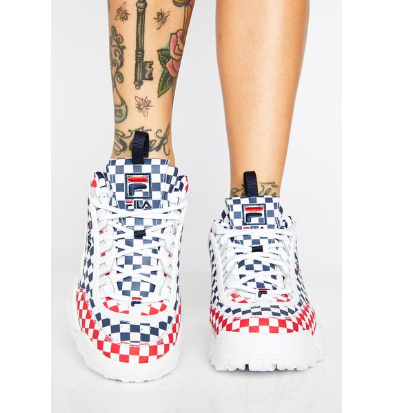 Fila Royal Disruptor II Checkered Sneakers