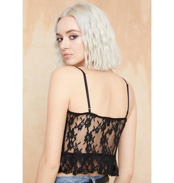 Current Mood Midnight Lost In The Crowd Lace Cami