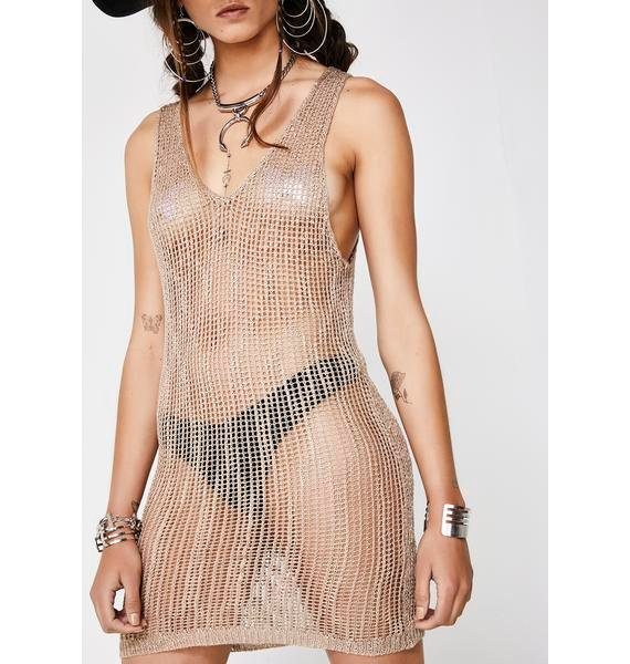 Sheer Instincts Mini Dress