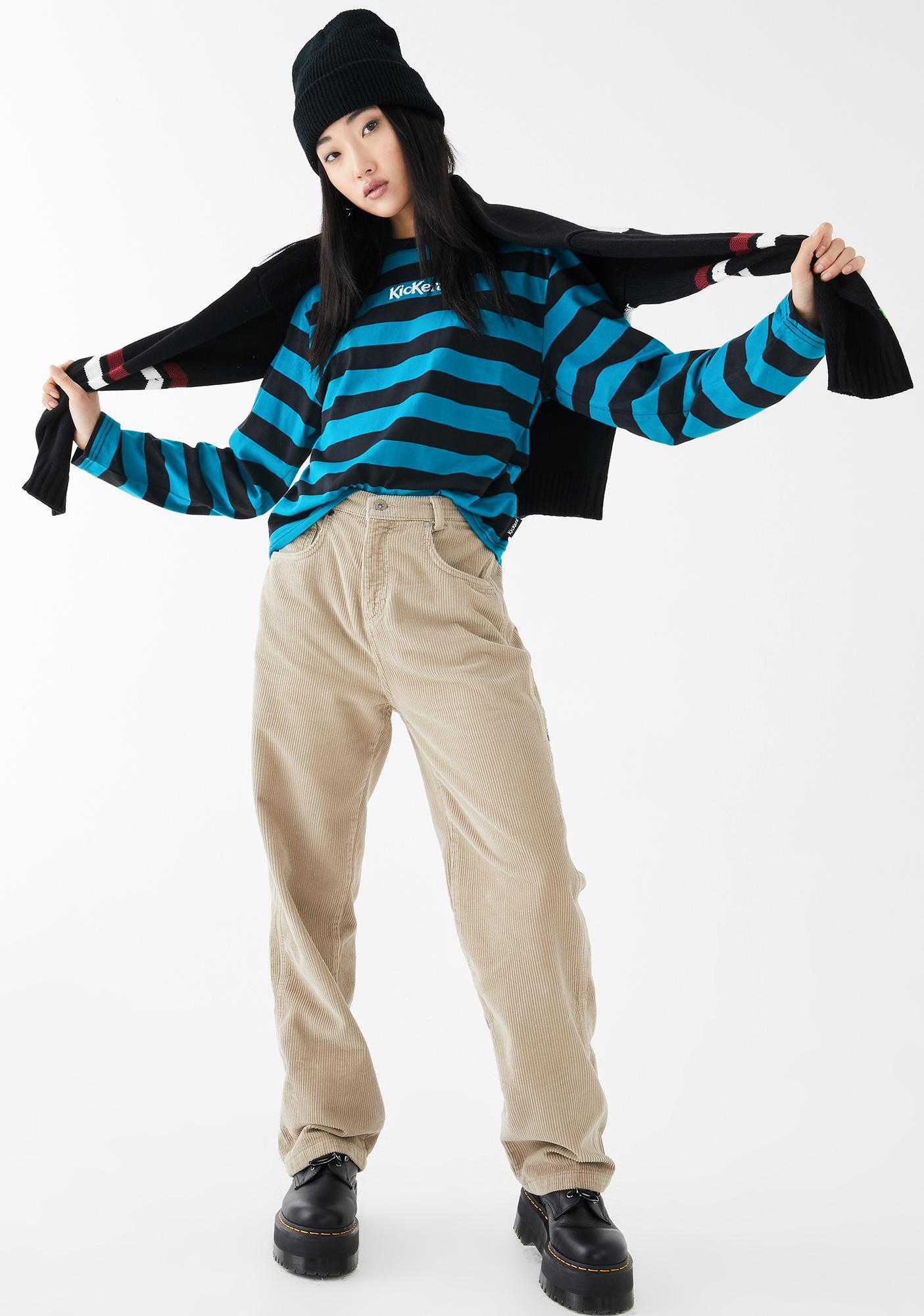 Kickers Long Sleeve Stripe T-Shirt