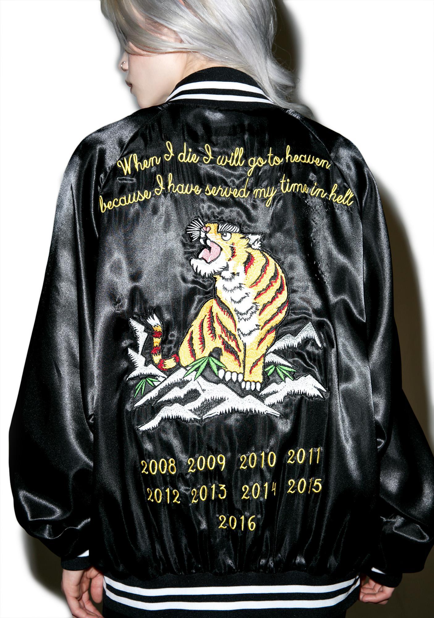 Civil Clothing Le Tigre Satin Jacket