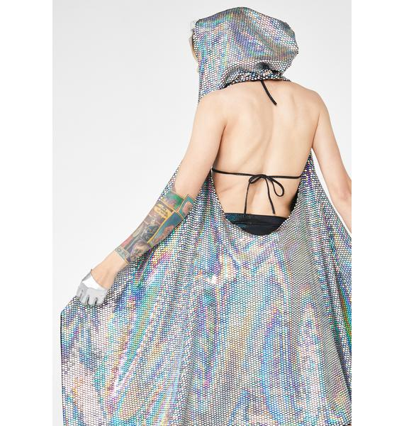 The Lyte Couture Sparkle Queen Hooded Cloak