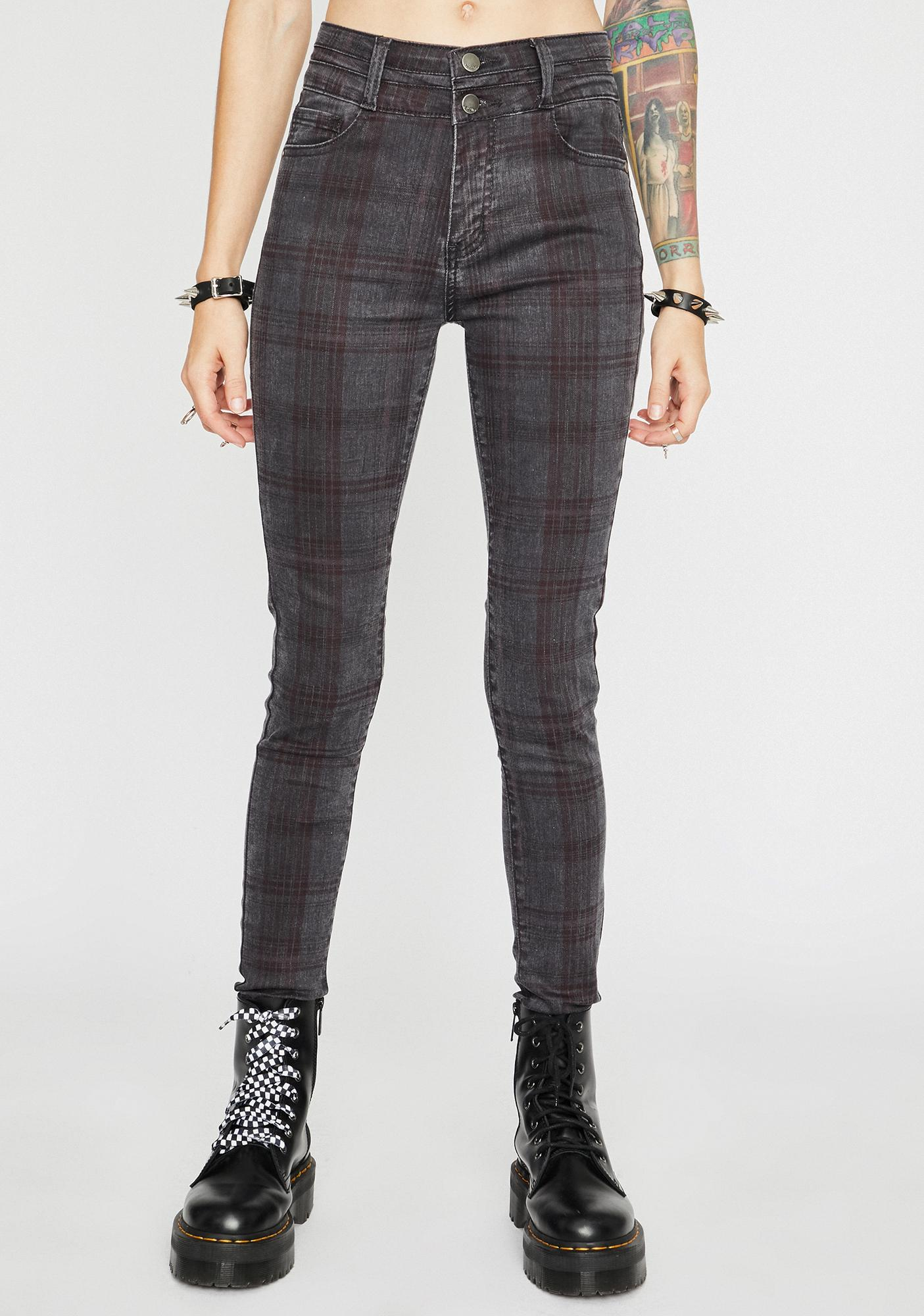 Stoned Cute But Cray Plaid Pants