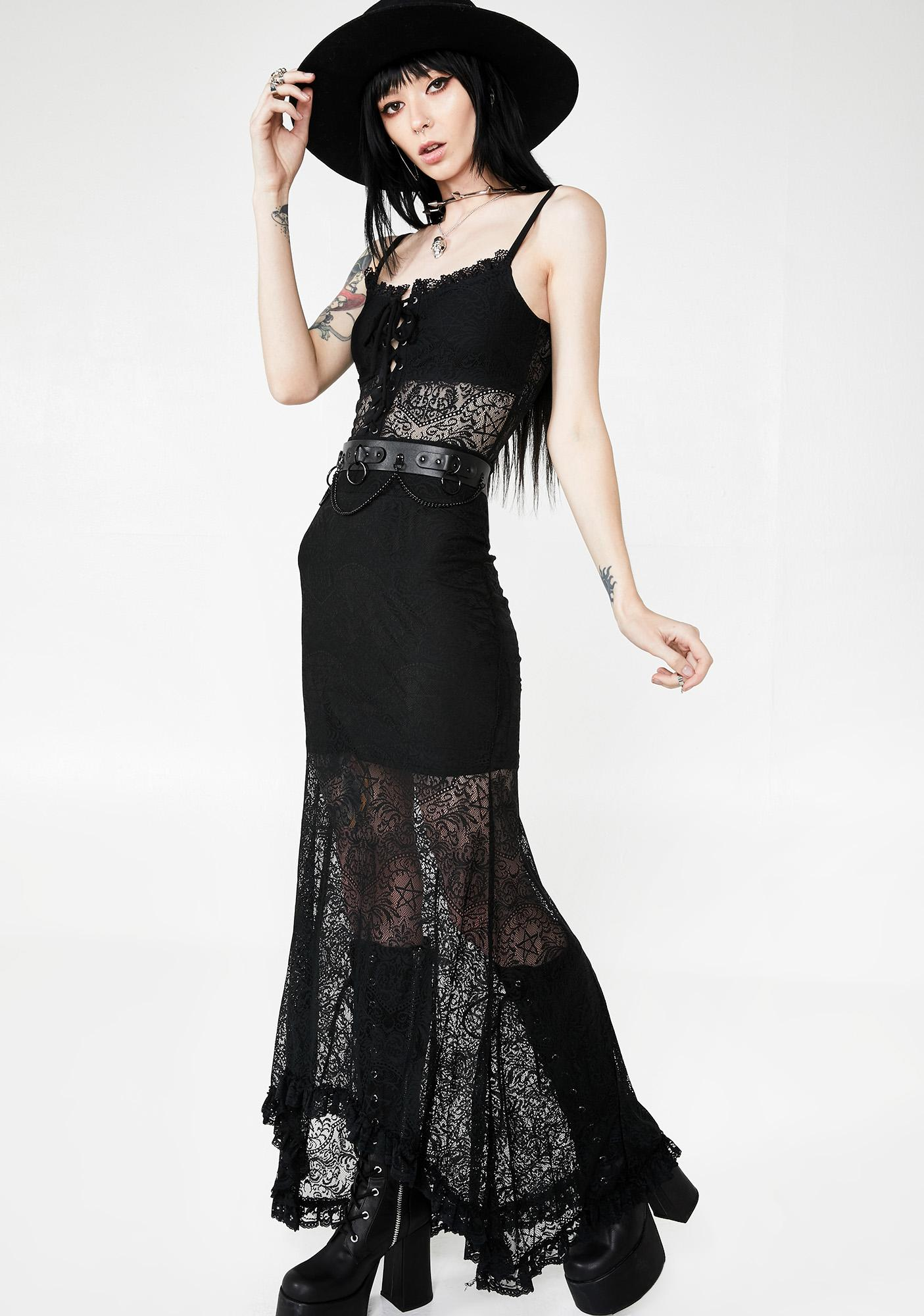 Killstar Venus Lace Maxi Skirt