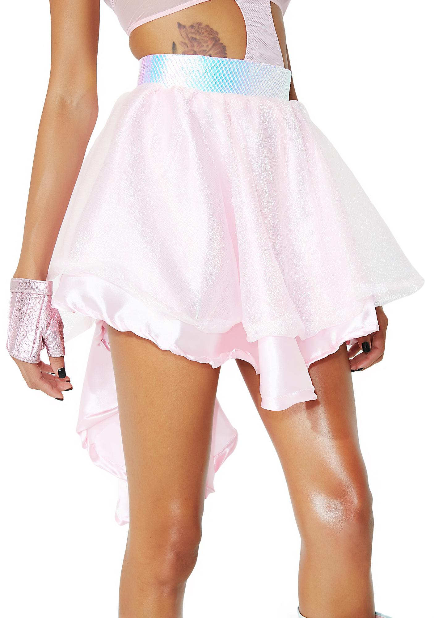 Cosmic Unicornz Pink High Low Skirt