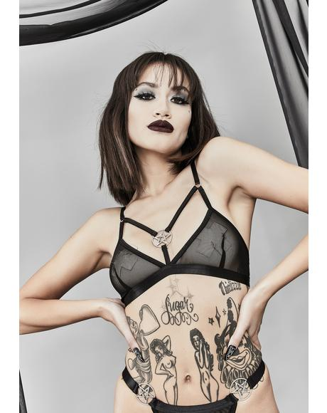 Beat The Reaper Pentagram Bralette