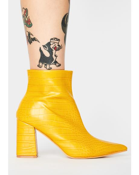 Mustard Hollie Ankle Boots