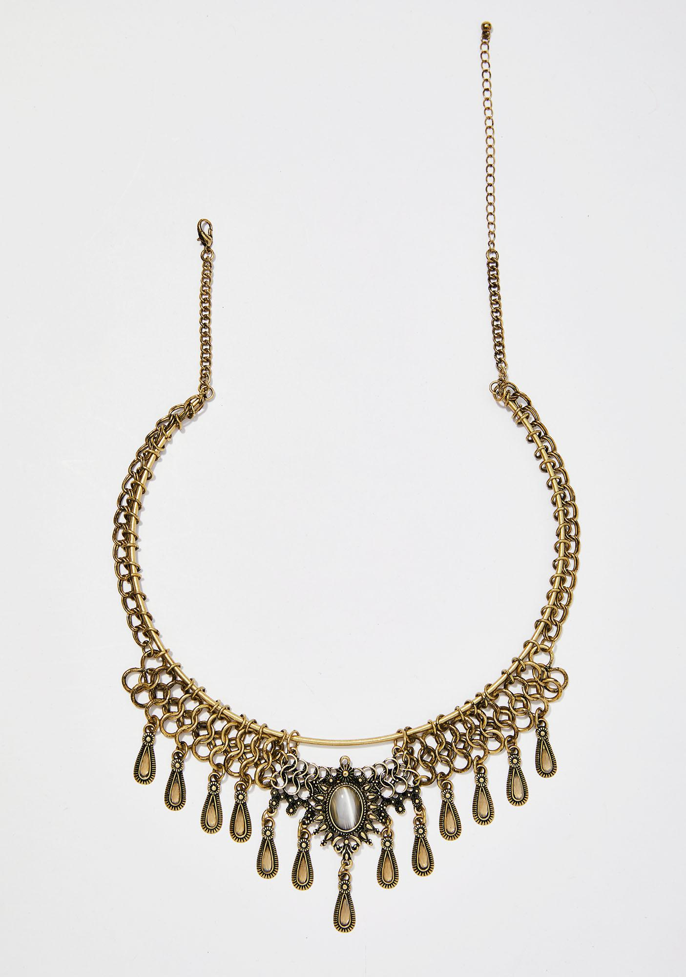 Eye Of The Tigress Boho Necklace by Ana Accessories