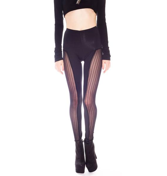 Costume Dept. Horizontal Panel Stripes Leggings