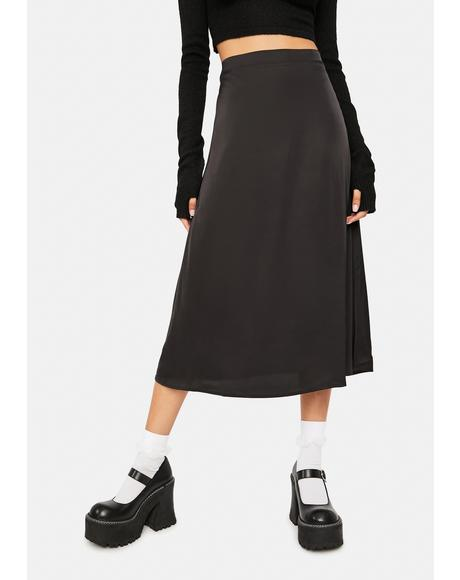 Old Soul Satin Midi Skirt