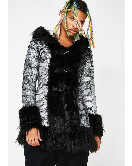 Cosmic Gangster Unisexx Fur Coat