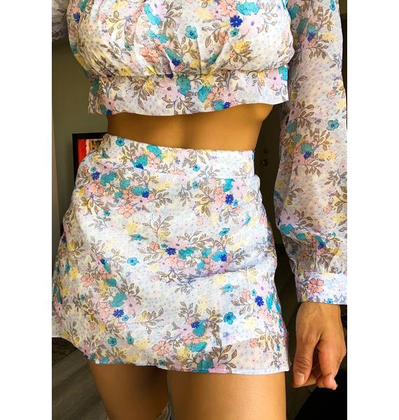Spring Awakening Floral Skirt