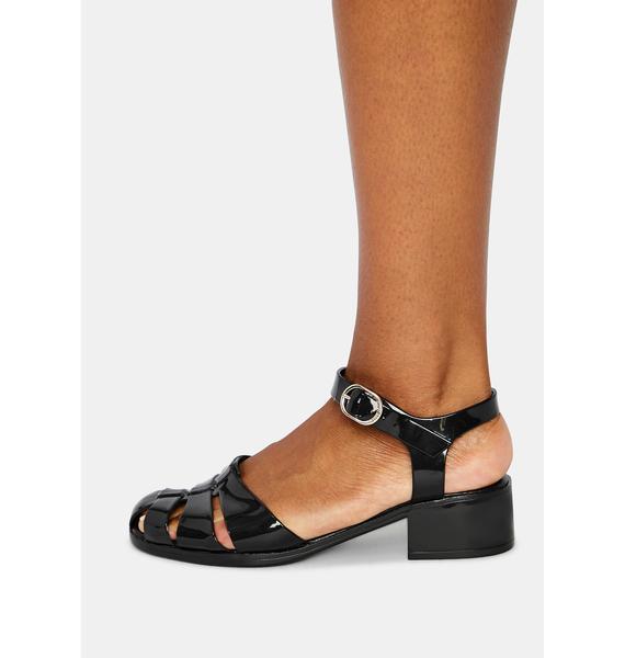 Petite Jolie Black Bremerton Jelly Sandals