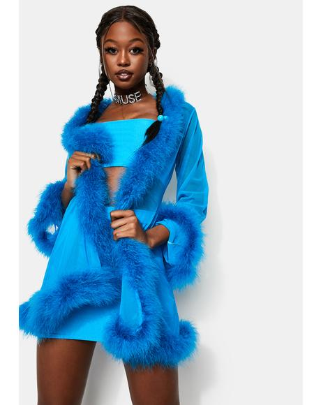 Icy Heaux Feather Robe