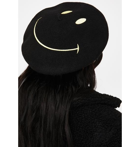 Feelin' Good Smiley Beret