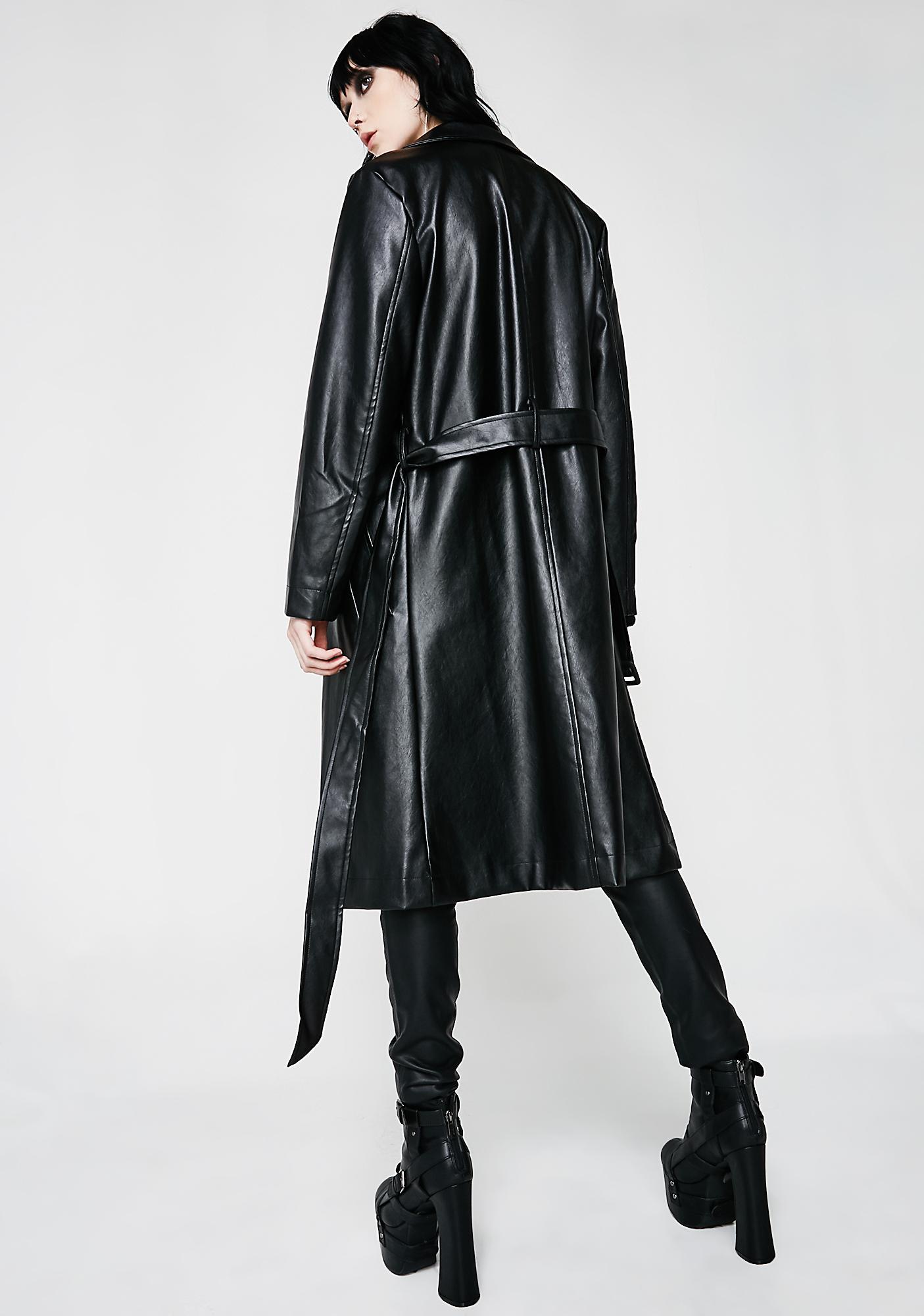 Bye Haterz Trench Coat