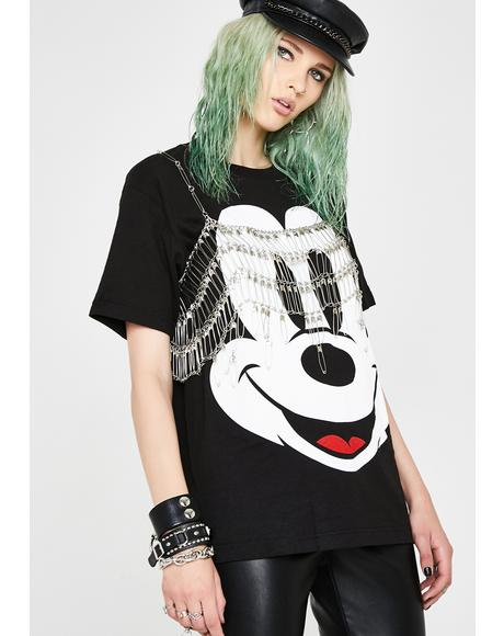 Mickey Face Graphic Tee