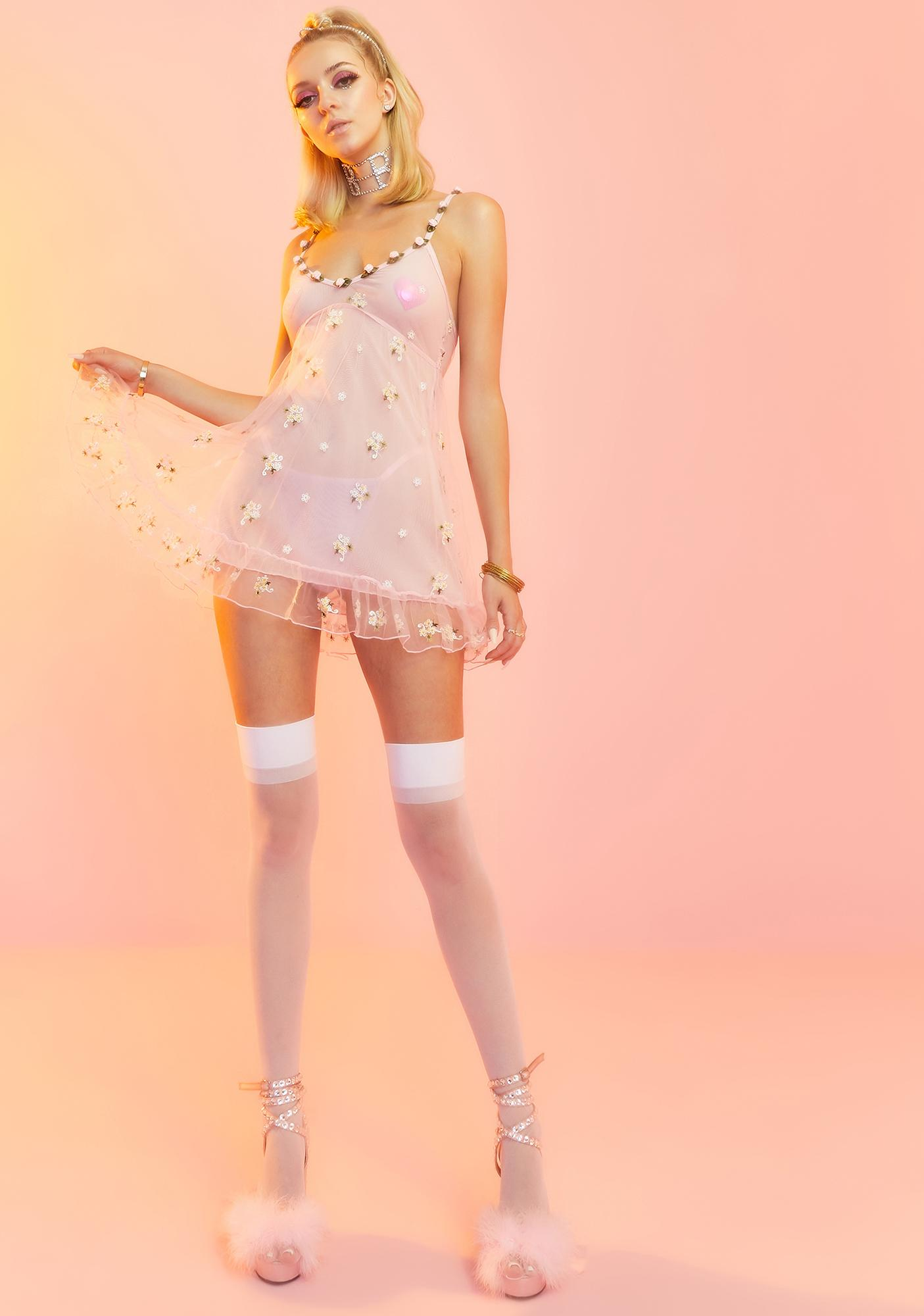 Sugar Thrillz Blooming Belle Slip Dress