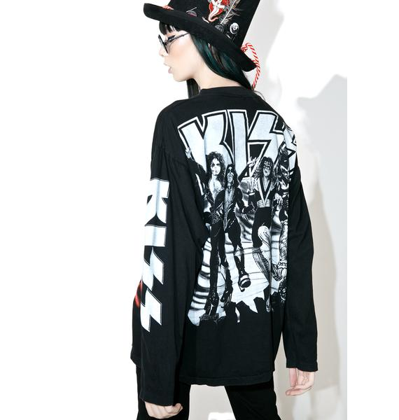 Vintage Kiss Long Sleeve Tee