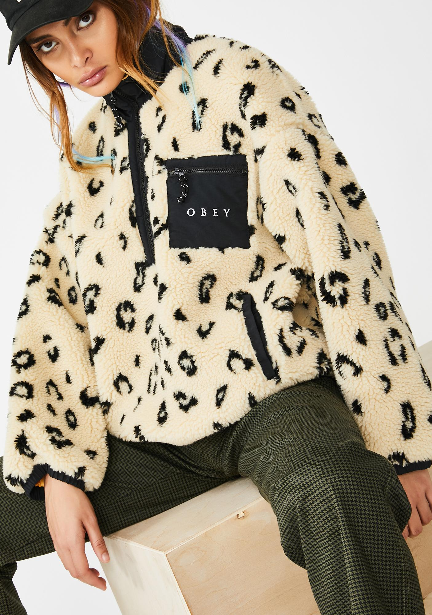 Obey Chiller Sherpa Anorak