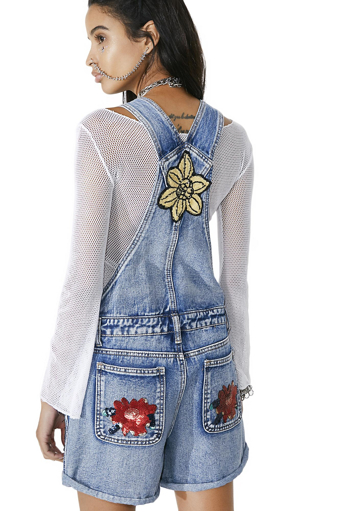 Glamorous Full Bloom Shortalls
