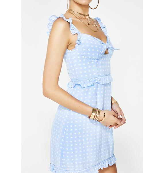 For Love & Lemons Sky Sweetheart Mini Dress