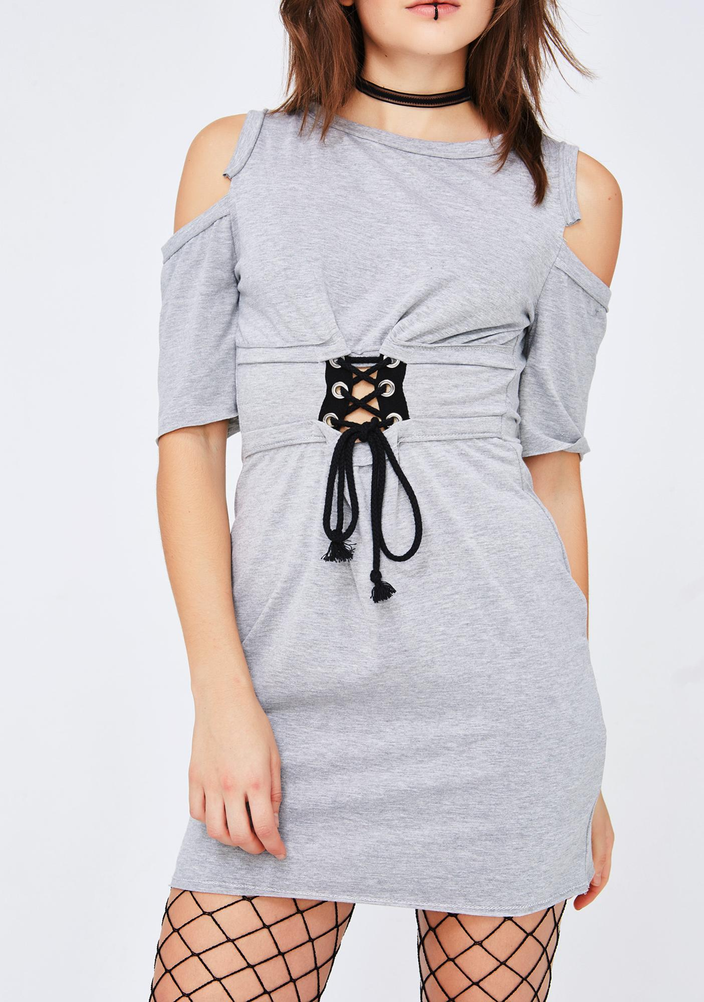Smoke Hawky Cold Shoulder Dress