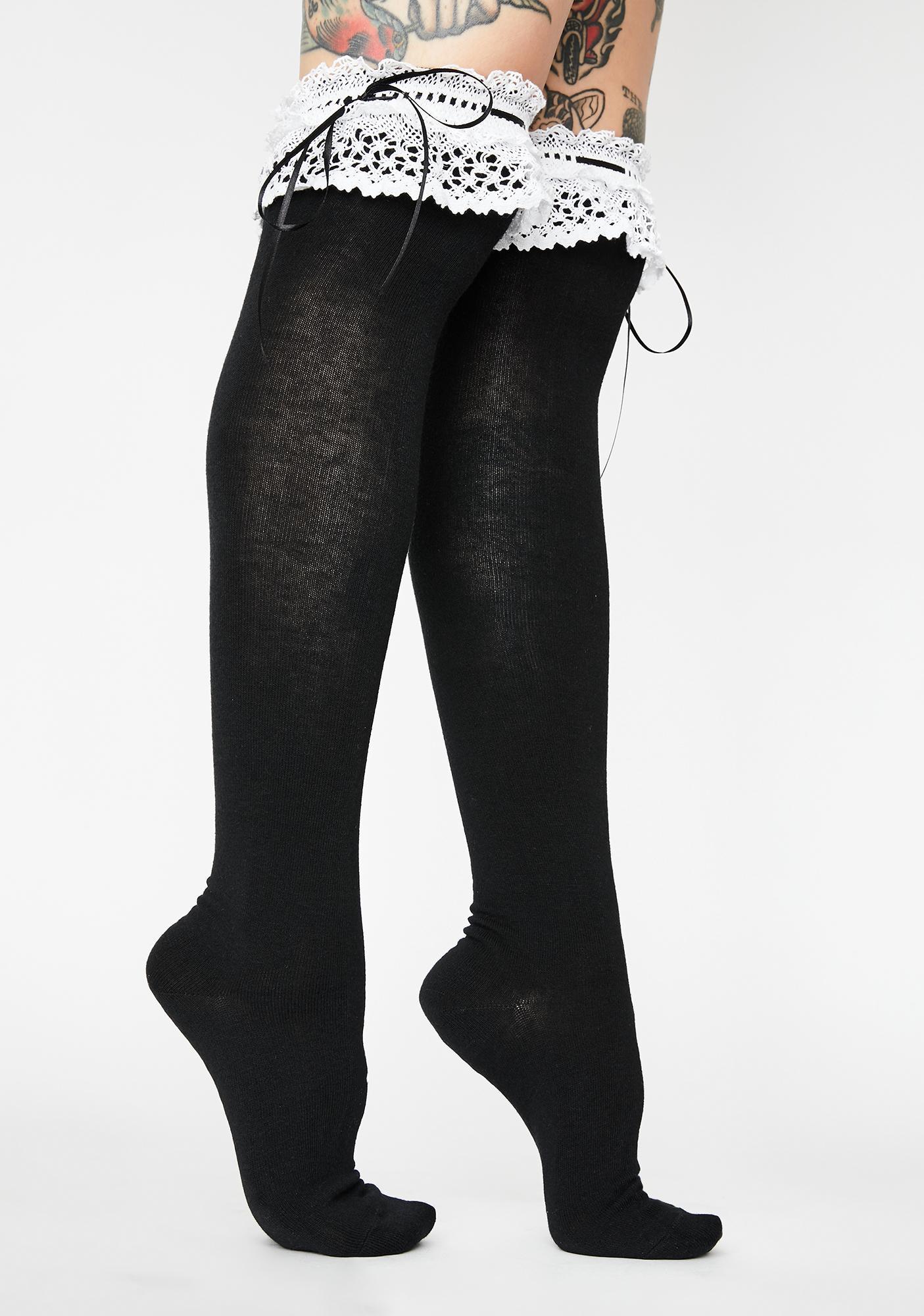 Reanimated Rag Doll Thigh High Socks