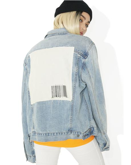 Girl Code Oversized Denim Jacket