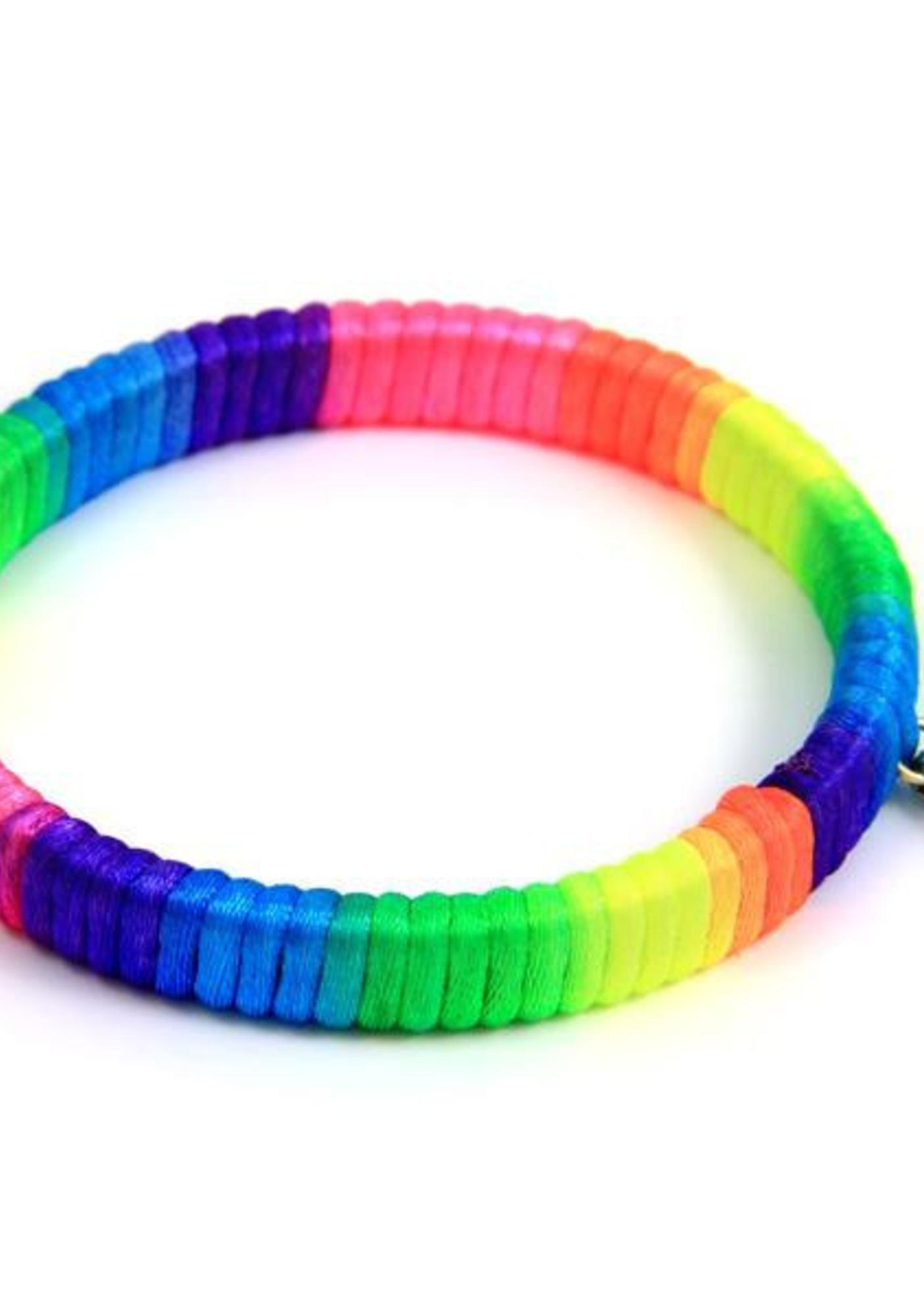 Ettika Cora Color Blend Satin Cord Lace Bangle Bracelet