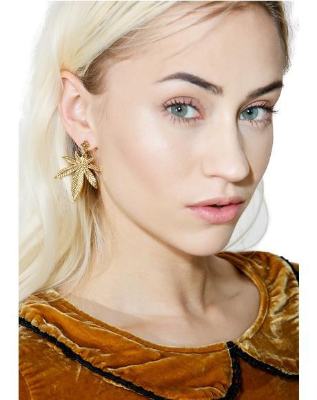 Top Shelf Leaf Earrings