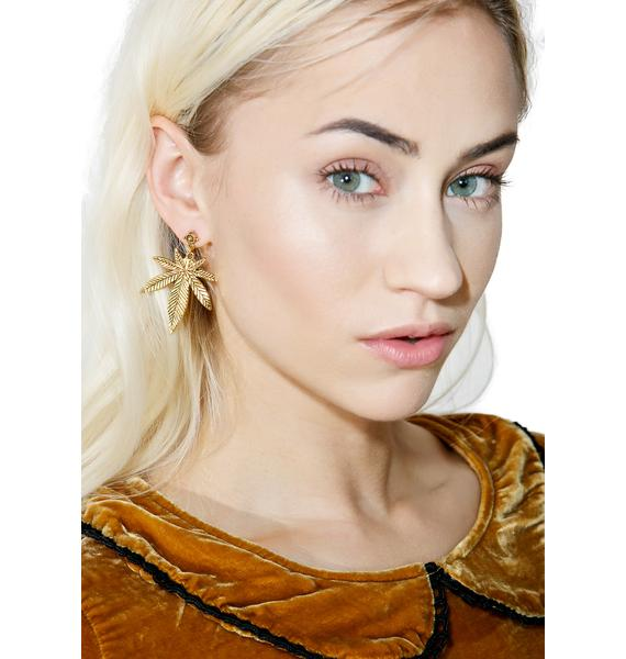 Blunted Objects Top Shelf Leaf Earrings