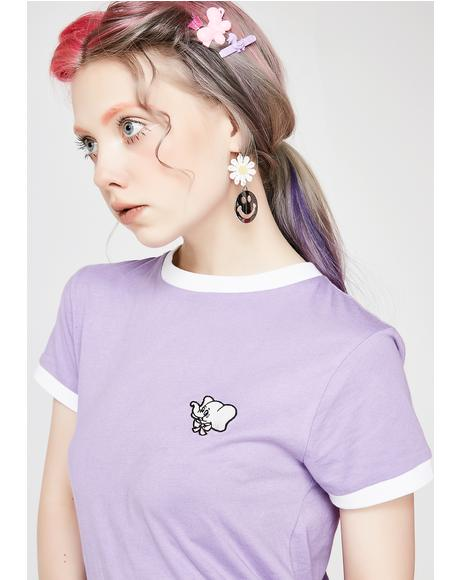 Elephant Head Purple Tee