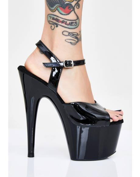 Midnight Kat Stacks Adore Platform Heels