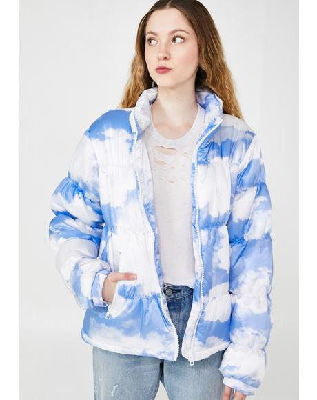 Cloudy Skies Puffer Jacket