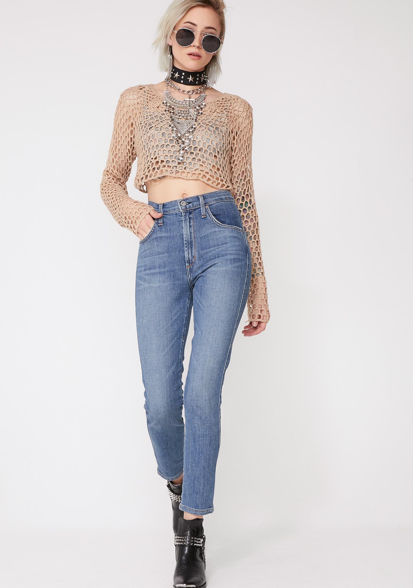 James Jeans Skylar Melrose Laced Jeans