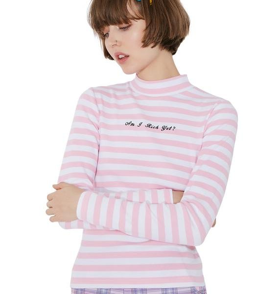 Lazy Oaf Am I Rich Long Sleeve Top