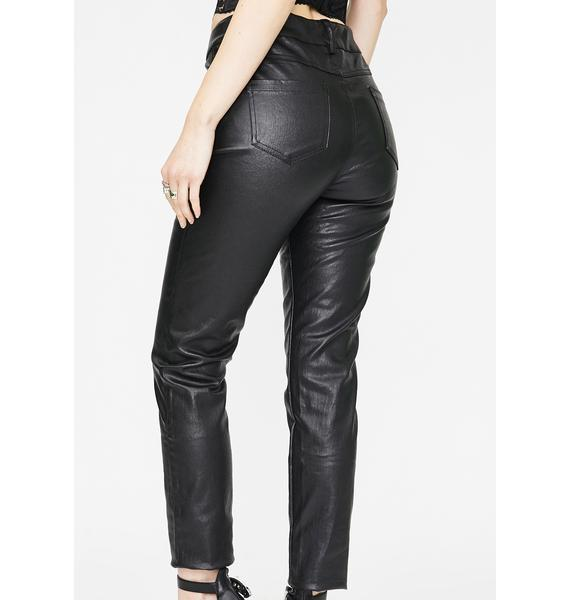 Punk Rave Vegan Leather Slim High Waist Pants