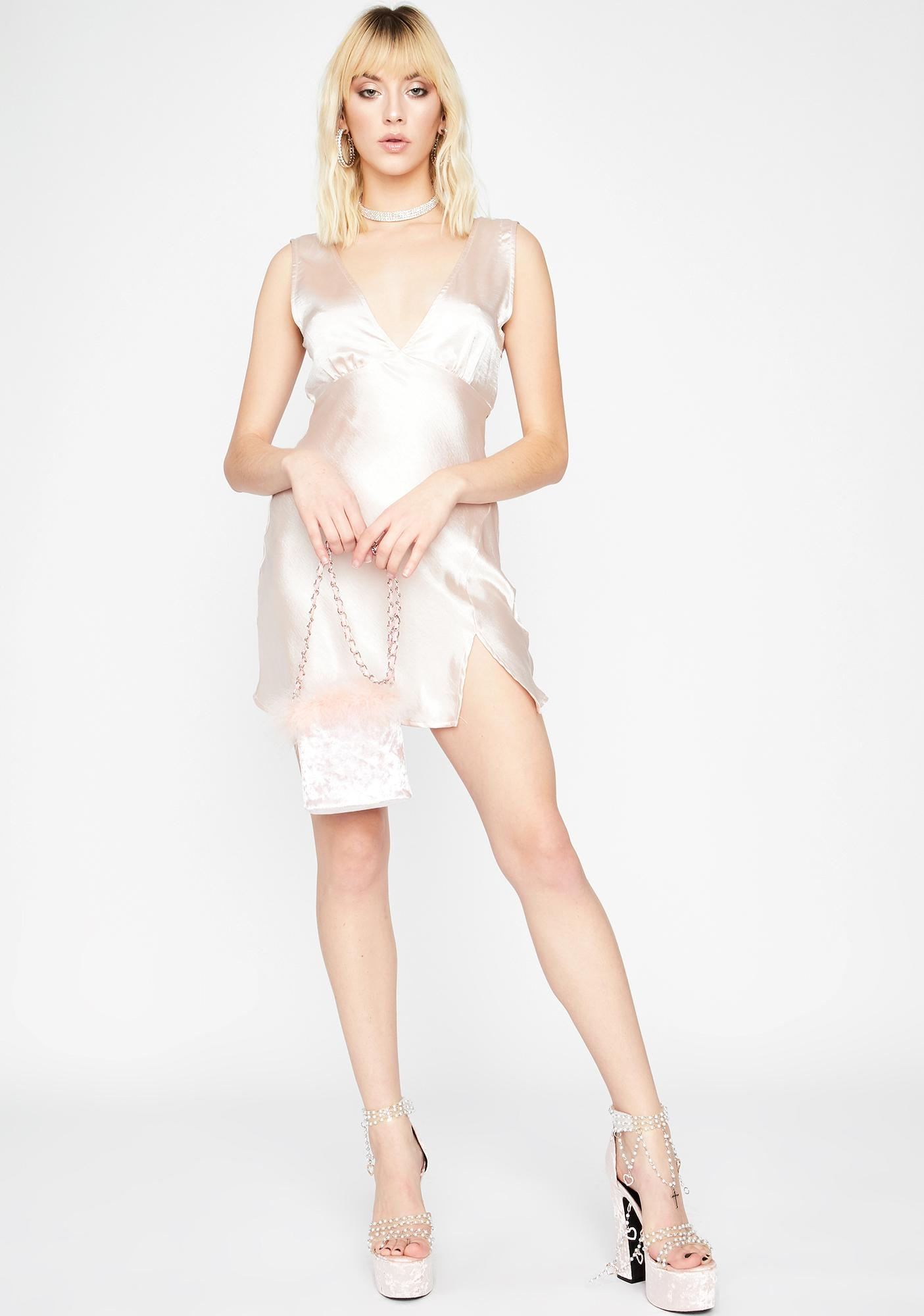 Champagne Feelin' Dreamy Satin Dress