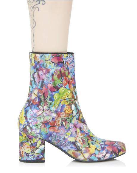 Holographic Butterfly Boots