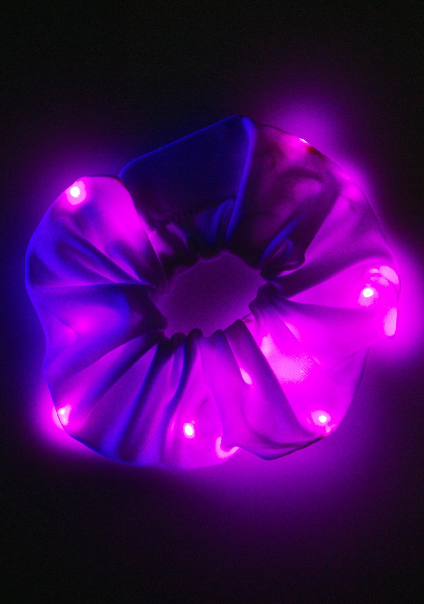 J Valentine Pinky Popstarr Light Up Scrunchie