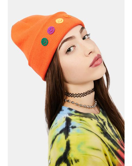 Mango Choose Happy Knit Beanie