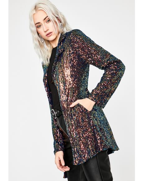 Chic Shine Sequin Blazer