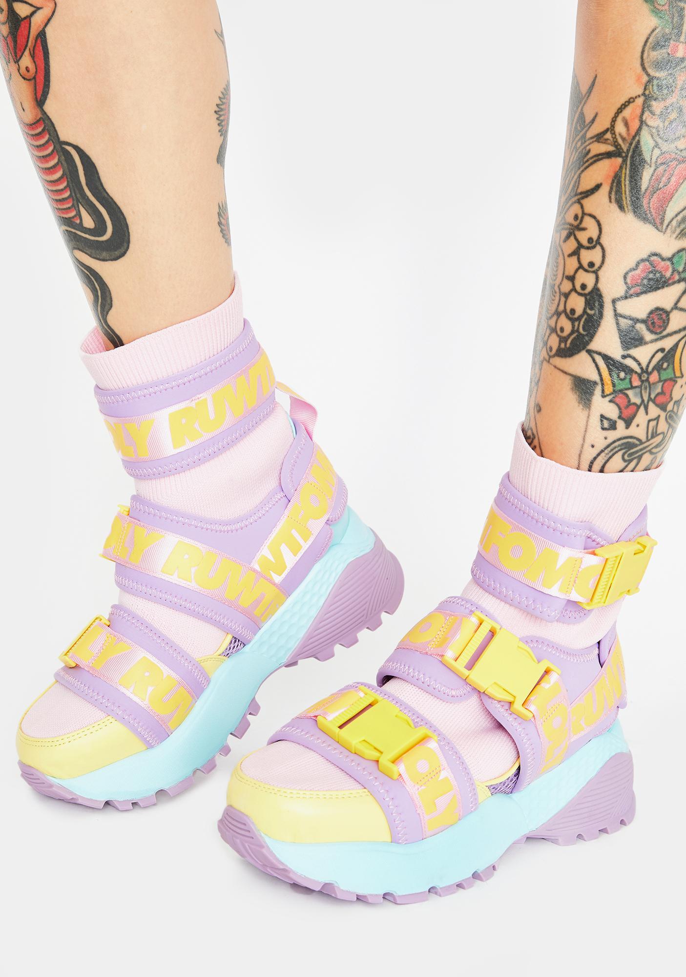 Y.R.U. Pastel Teq Platform Sneakers
