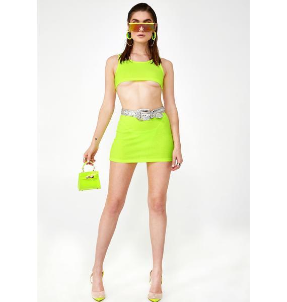 Kiki Riki Glowin' Darkwave Disco Skirt Set