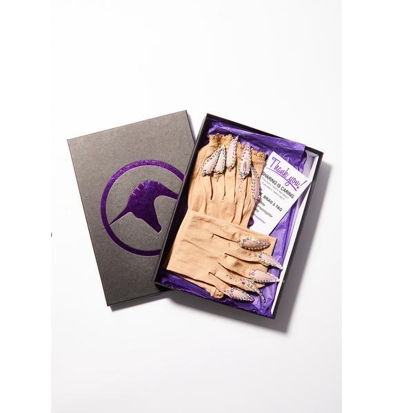 Unicorns Poop Glitter Naked Nail Gloves